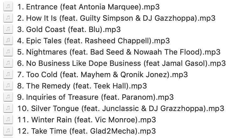 bridges and tunnels track list